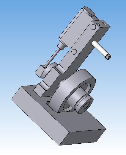 3D-модель машины с качающимся цилиндром