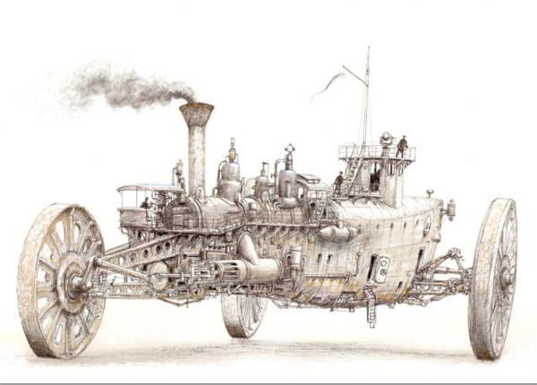 Паровой трёхколёсник