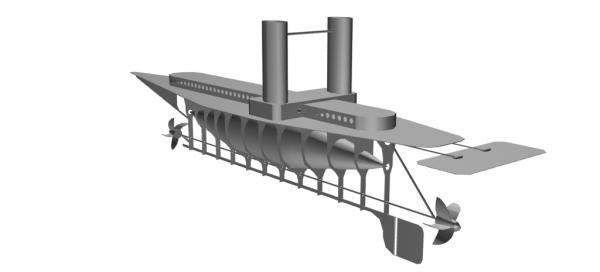 Летучий корабль 2 (3D-модель шаг за шагом) (Фото 10)