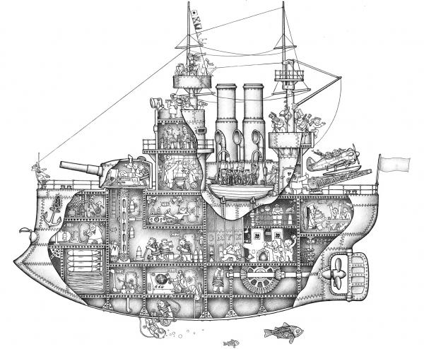 The steam ship