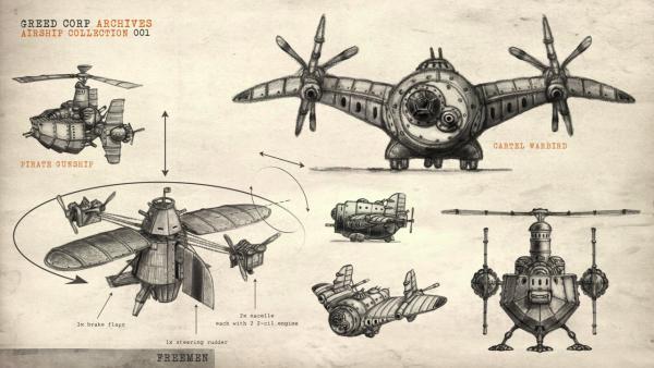 Greed corp - airship