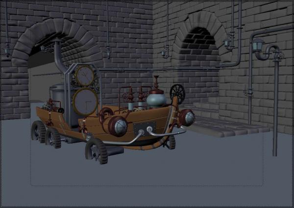 Работа на конкурс Steampunk-Vision 3D в Студию, автор Andrew