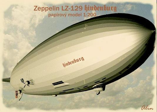 """Бумажная модель дирижабль """"Hindenburg"""" (""""Гинденбург"""") LZ-129 (+статья с """"вики"""")"""