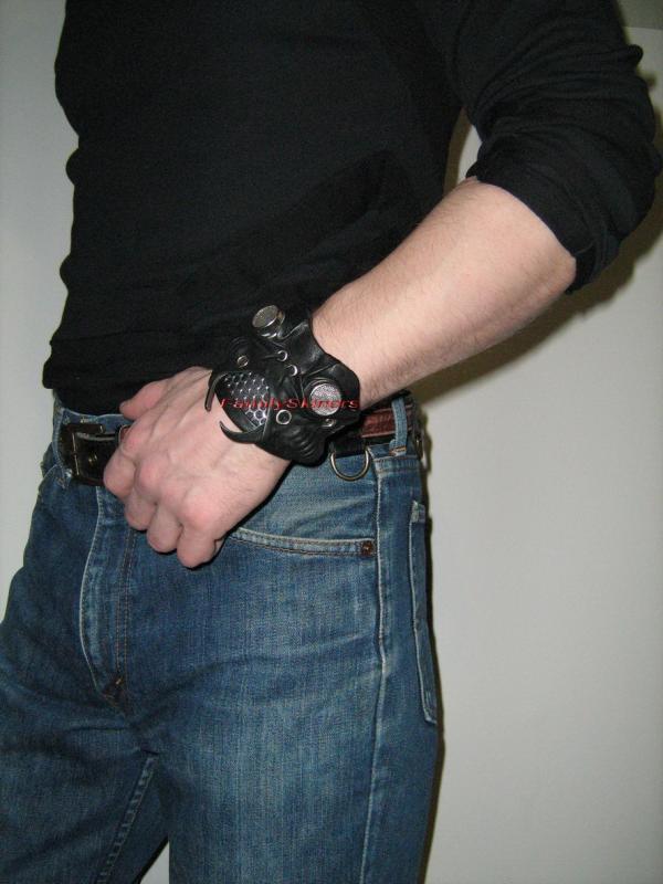 Кожаные браслеты в Steampunk и Cyberpunk стилях. (Фото 2)