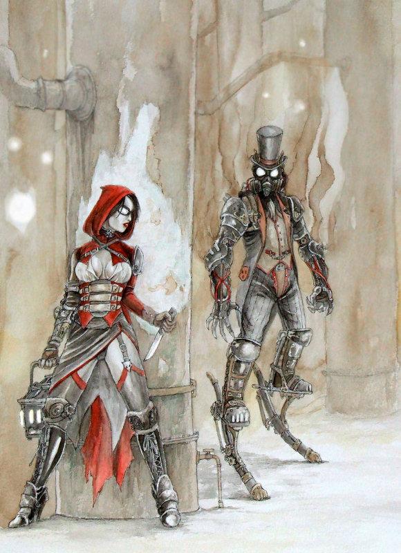 Красная Шапочка и Грей Вульф. Стимпанк - версия.