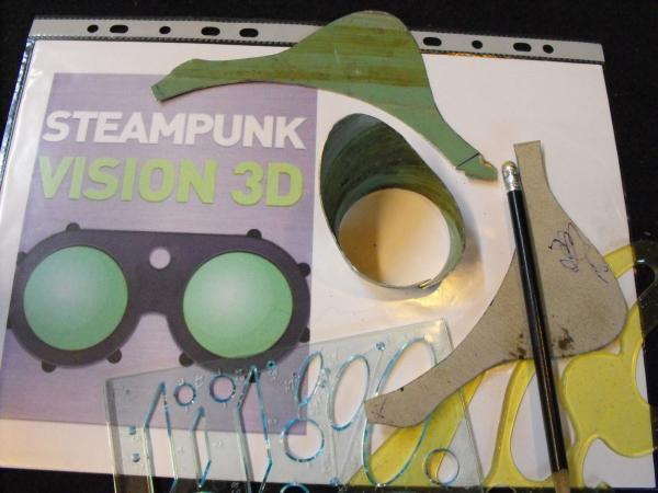 "Гогглы   Монте Кристо  для конкурса  ""STEAMPUNK-VISION 3D"" от NVIDIA .  № 1 (Фото 11)"
