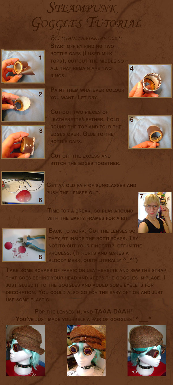 Steampunk Goggles Tutorials (Фото 25)