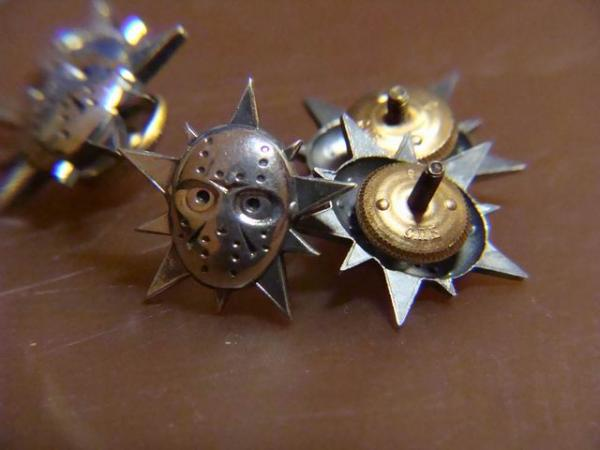 лепрозначки, серебро, винтовое крепление