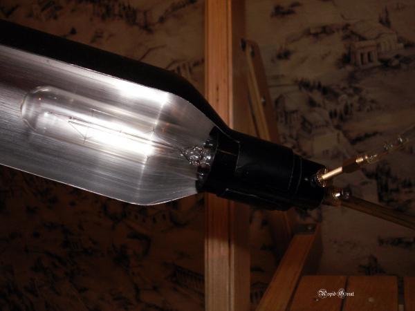 Стимпанк лампа № 1. (Фото 4)