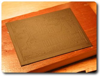 Латунная табличка с грунтом