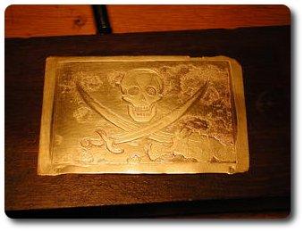 Пиратская пряжка ремня