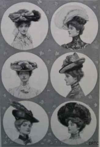 Модные шляпки 1901