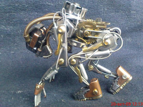робот байкер в стиле киберпанк (Фото 2)