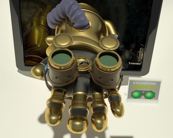 Работа на конкурс Steampunk-Vision 3D в Студию, автор Hand of Skeezix