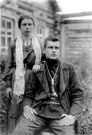 Купец с женой. Туруханский округ.