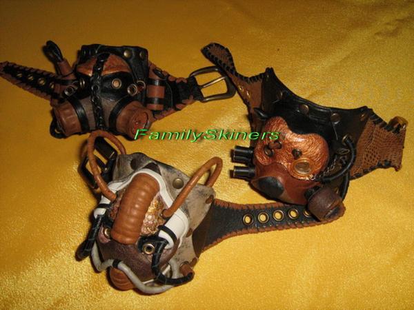 Кожаные браслеты в Steampunk и Cyberpunk стилях. (Фото 8)