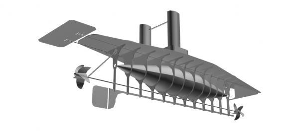 Летучий корабль 2 (3D-модель шаг за шагом) (Фото 7)