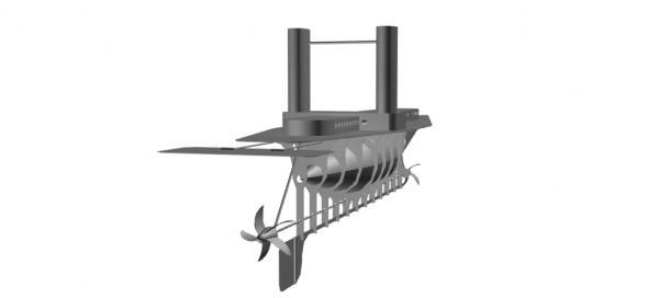 Летучий корабль 2 (3D-модель шаг за шагом) (Фото 9)