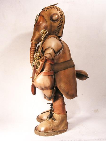 """Кожаная стимпанк кукла """"Макар следопыт"""" от bob_basset (Фото 2)"""