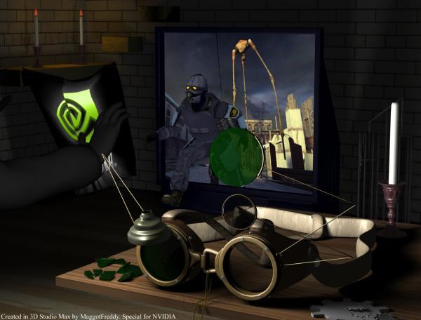 Работа на конкурс Steampunk-Vision 3D в Студию, автор MaggotFreddy