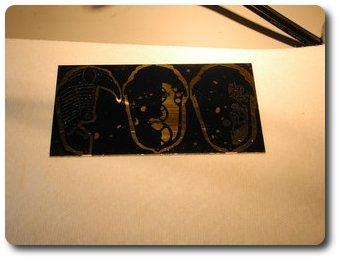 Переводим изображение на латунную пластину