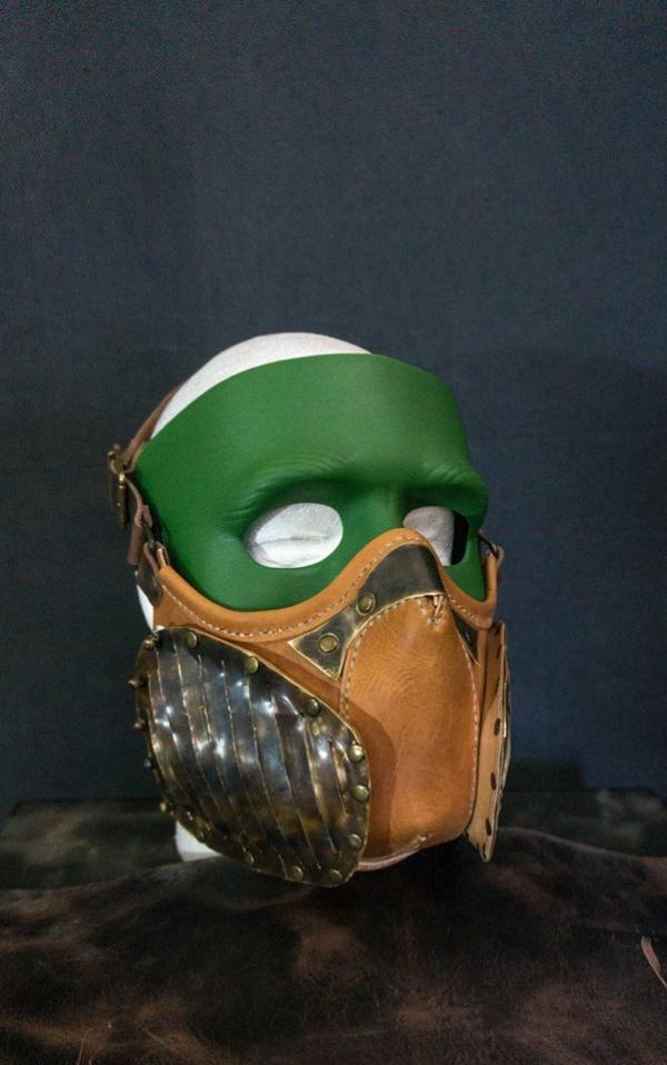 Как сделать кожанную маску - видео туториал