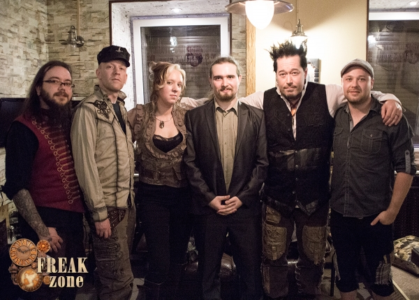 Автограф-сессия Abney Park в анти-кафе Freak-zone 18 апреля)