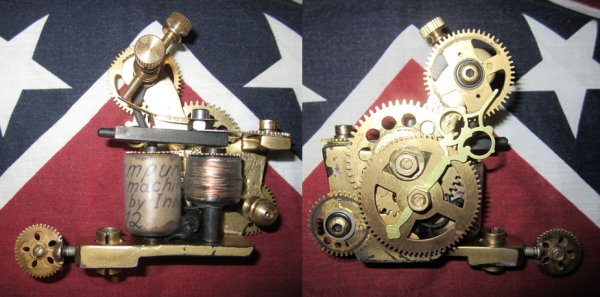 Steampunk tattoo machine.