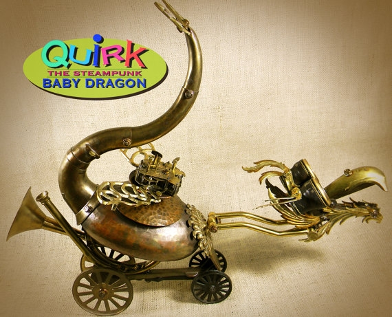 """QUIRK - The Steampunk Baby Dragon - Robot Assemblage""  by Reclaim2Fame (Фото 2)"