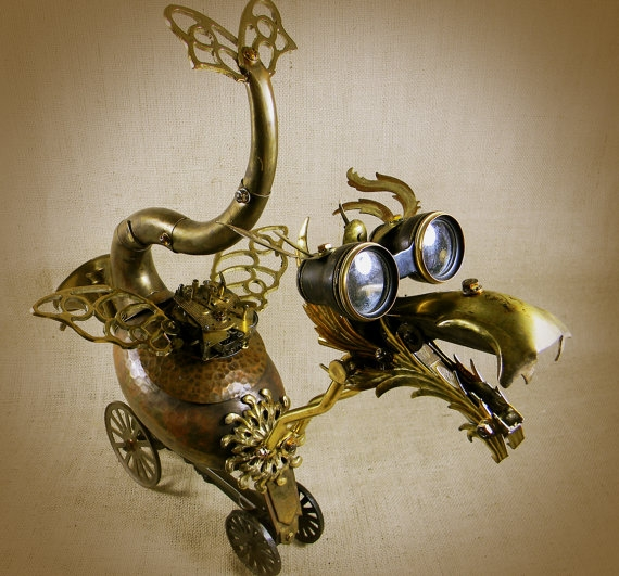 """QUIRK - The Steampunk Baby Dragon - Robot Assemblage""  by Reclaim2Fame (Фото 3)"