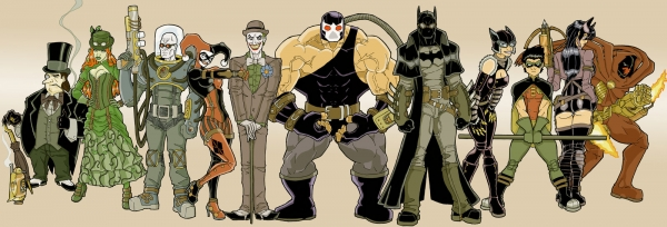 SteamPunk Batman and Co. (by Fhiacha)