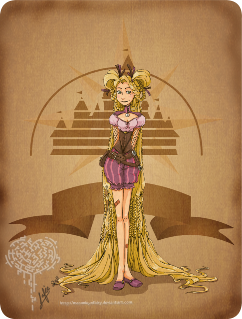 Disney steampunk by MecaniqueFairy