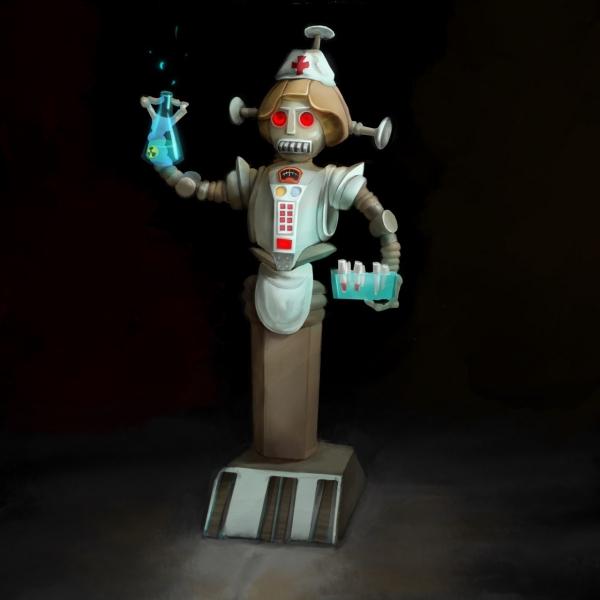 Марш роботов - челлендж для художников