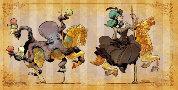 Brian Kesinger «An octopus is a lady's best friend!» (Фото 7)