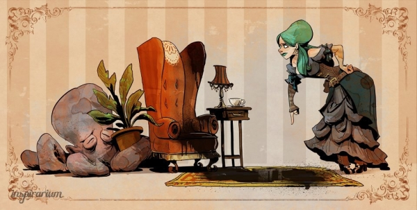 Brian Kesinger «An octopus is a lady's best friend!» (Фото 5)