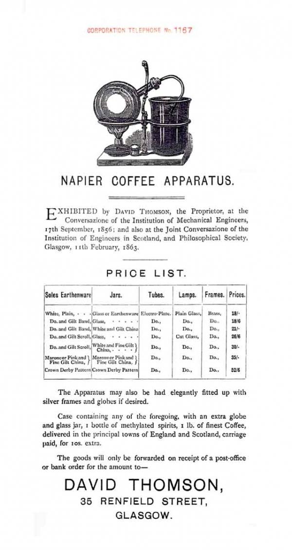 Кое-что из истории кофейного аппарата: Кофеварка Нейпера (Фото 12)