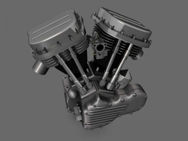115. Harley-Davidson engine.