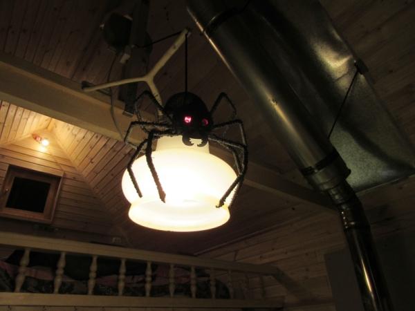 Люстра с пауком.