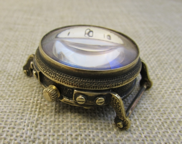 Часы Полет с линзой вместо стекла.