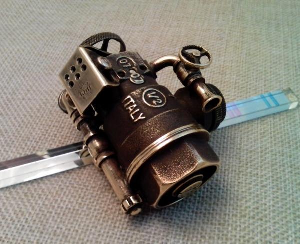 Зажигалка №147. Шарокран. Опыт снятия покрытия с латуни.