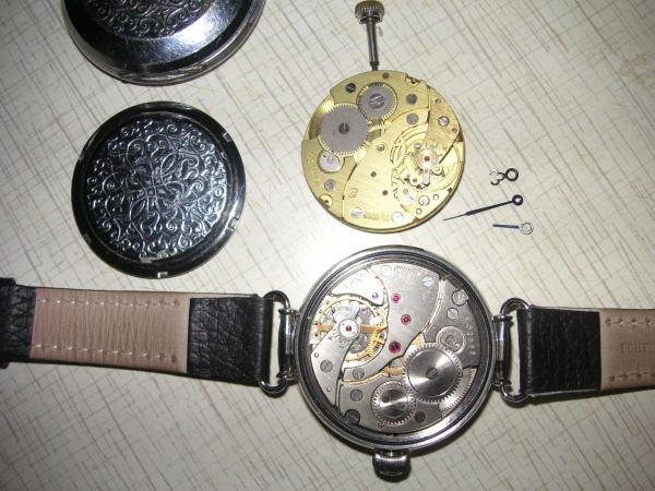 Переделка карманных часов в наручные часы lv часы скелетоны