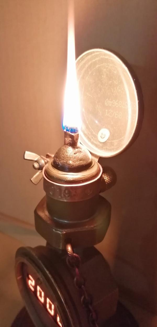 Часы из водосчётчика #2 +масляная лампа.