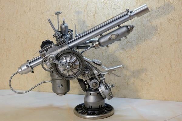 Советский стальной стимпанк. Стационарный гаубично-пулеметный комплекс Гадюка...