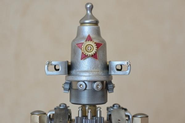 Советский стальной стимпанк. Охранно-боевой робот класса Кибальчиш...