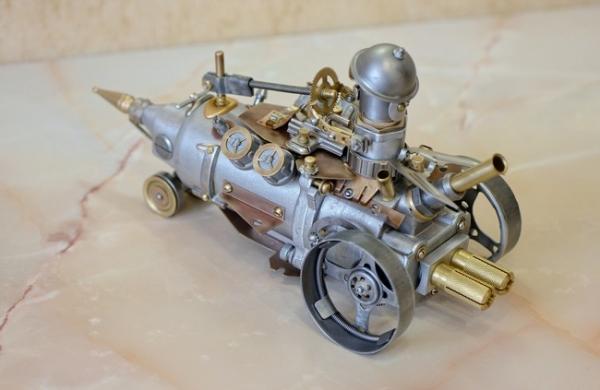 Гоночный паромобиль Ракета.