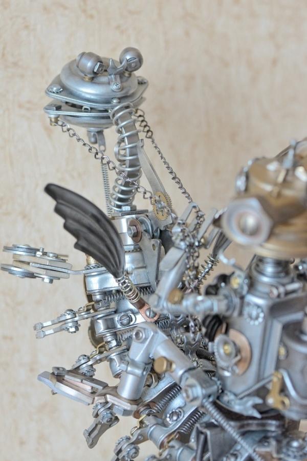Скульптурная композиция АкваМех на Турбохвосте.