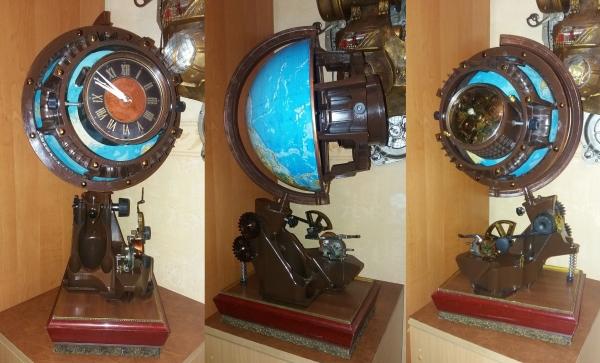 Часы Внутренняя сторона Земли и Мистер Твистер.