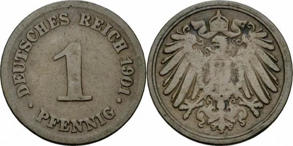 Deutsches Reich 1 Pfennig 1901
