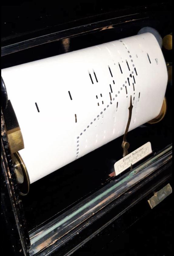 Механическое пианино, привод от педалей