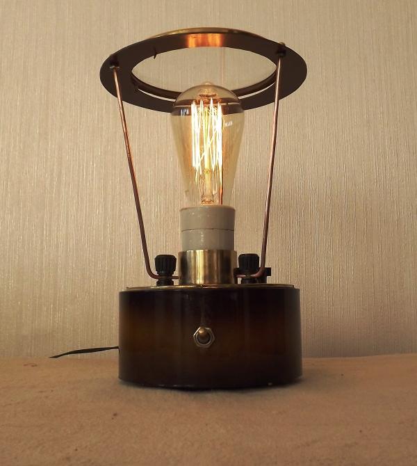 Лампа из старых часов